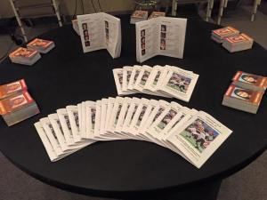 Missing Kids 2015 table of books and cards