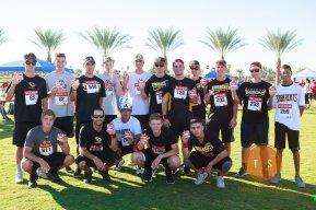 Saguaro High School Baseball team joined RLR in the race!